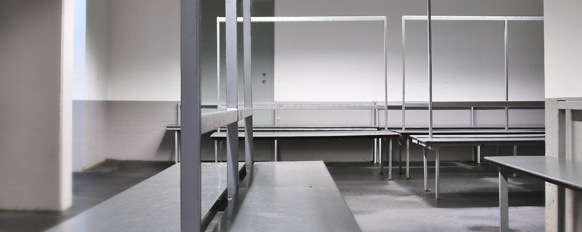 Eishalle Adelberg Umkleidekabine